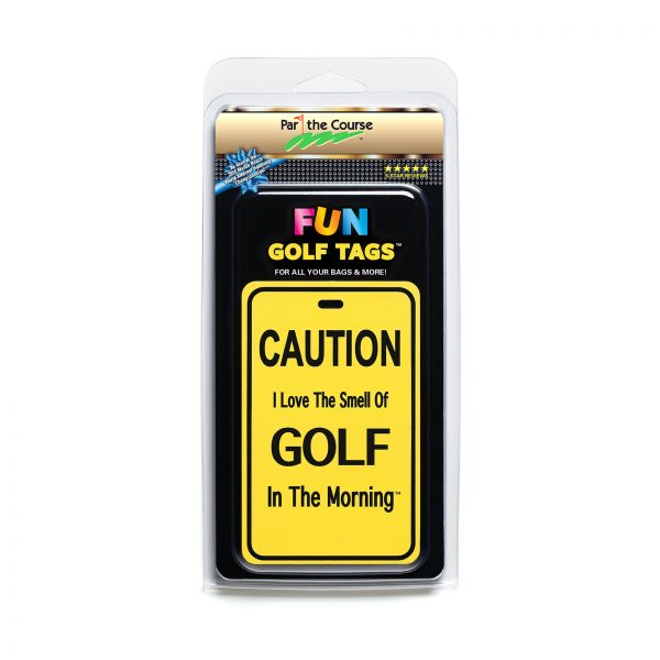 CAUTION: I Love the Smell of Golf - Gift / Promotion / Golf Tag
