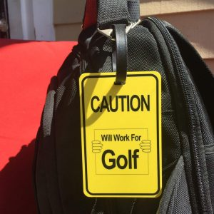 Backpack Golf Tag