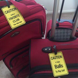 Luggage Golf Tag