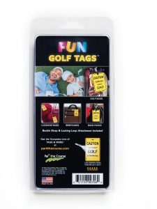 Golf Tag Packaging Back